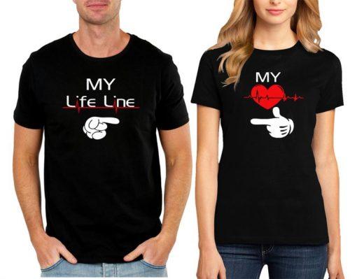 my heart my life line t-shirt